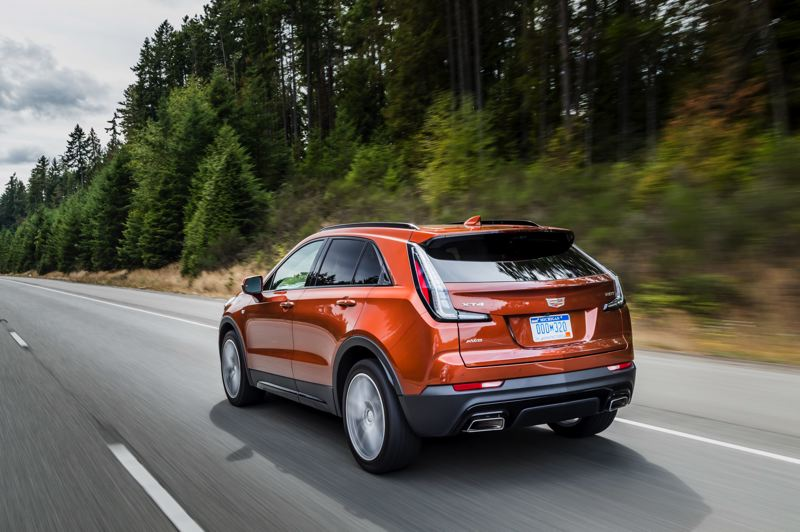 COURTESY CADILLAC - The contemporary styling extends to the reat of the 2019 Cadillac XT4.