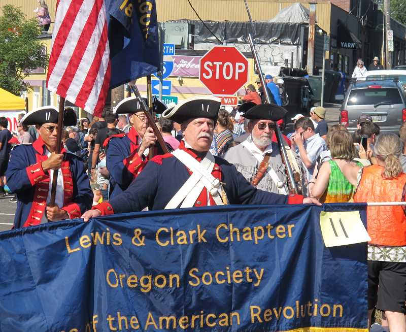 HISTORY ON THE MARCH - Besides impromptu marchers, there will be organized units like this one as part of this year's Multnomah Days Parade on August 17.