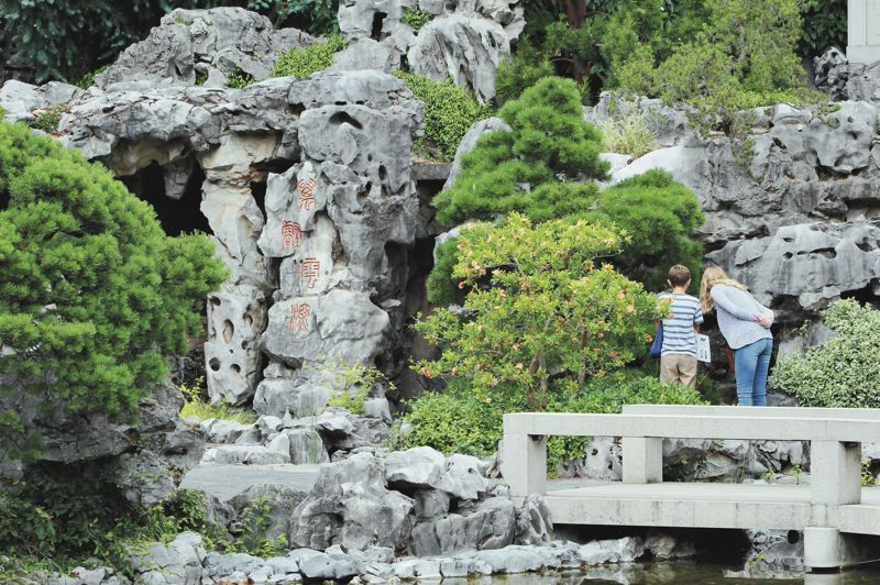 PMG PHOTO: SAMANTHA KAR - The Lan Su Chinese Garden is one of six authentic Chinese gardens in all of North America, as well as an authentic botanical garden with more than 270 species of Chinese plants.