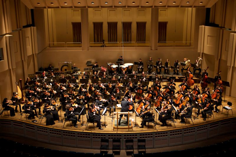 COURTESY PHOTO:  METROPOLITAN YOUTH SYMPHONY - The Metropolitan Youth Symphony plays a concert at Arelene Schnitzer Concert Hall.