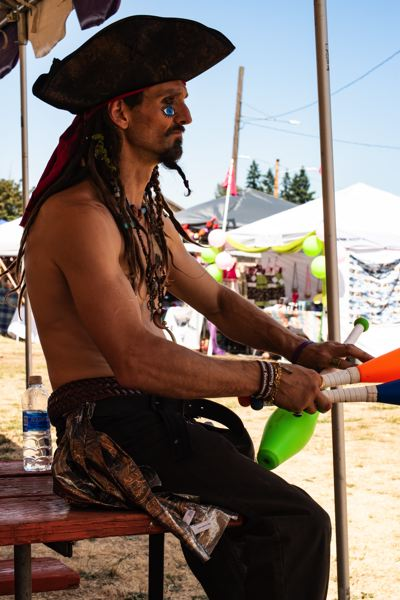PHOTO BY KRISTA STONE - Captain Ivan, aka Ivan Scarborough, is decked out in full pirate regalia at last year's Undersized Renaissance Faire.