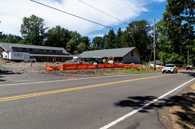 PMG PHOTO: CLARA HOWELL  - The new Marylhurst School applied for a permit that would add a sidewalk in front of its property.