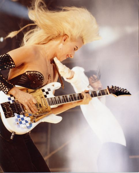 COURTESY PHOTO: SAM EMERSON - Jennifer Batten, who lives in Sandy, was by Michael Jackson's side through three world tours and the Super Bowl XXVII halftime show in 1993.
