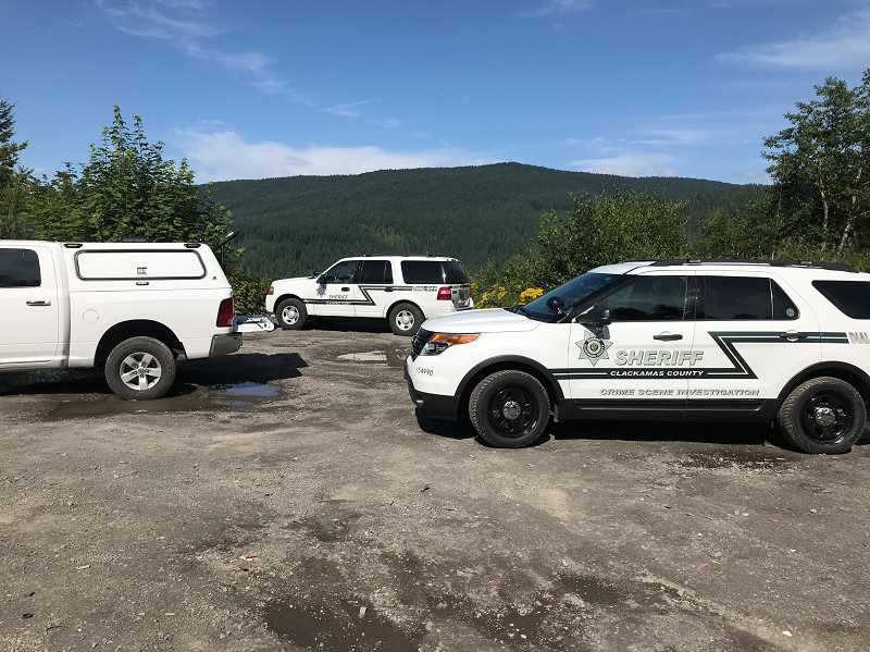 COURTESY PHOTO - On Monday, Aug. 12, Clackamas County Sheriff's Office deputies and U.S. Forest Service law enforcement officers responded to a 911 call reporting the discovery of an adult male body and an adult female body.