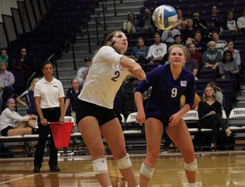 SUBMITTED PHOTO - After redshirting her sophomore year (2016), due to her knee injury, Renault stepped back on the volleyball court to help the team finish with a 17-15 record. Last season, the Bulldogs had a 21-11 record, with Renault having significant playing time.