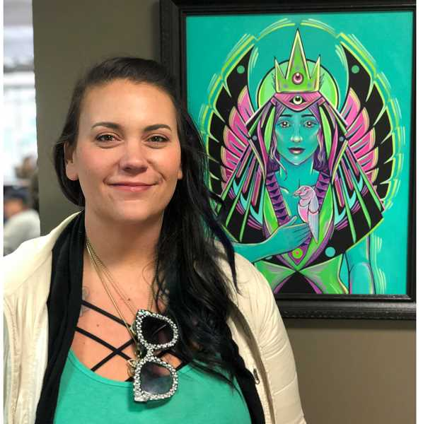 COURTESY PHOTO - Steph Littlebird Fogel is an artist, writer and the guest curator of 'This IS Kalapuyan Land' at the Washington County Museum.