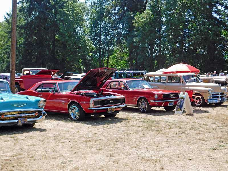 COURTESY PHOTO - A variety of vehicles were on display during the Route 26 Cruisers 14th annual Old Time Cruise to Estacada.
