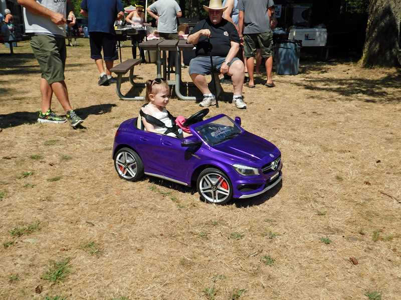 COURTESY PHOTO - Participants of all ages enjoyed the Old Time Cruise to Estacada, held earlier this month at Timber Park.