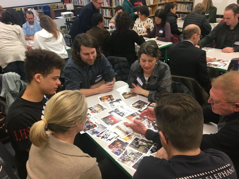 COURTESY BORA ARCHITECTS  - Students and parents giving their input in 2018  for the new Lincoln High School.