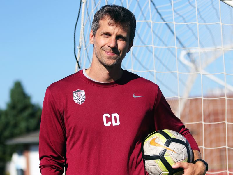PMG PHOTO: DAN BROOD - Chris Duke, who has coached soccer at international schools in Thailand and Germany, takes over as Tualatin's varsity boys soccer head coach this year.