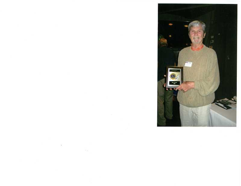 COURTESY PHOTO  - Ron Adams of West Linn was given the Les DeJardin Community Service award by the West Linn Lions Club.