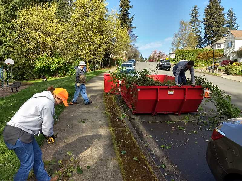COURTESY PHOTO - West Linns Adopt-A-Park program lets everyone get involved with caring for city parks.