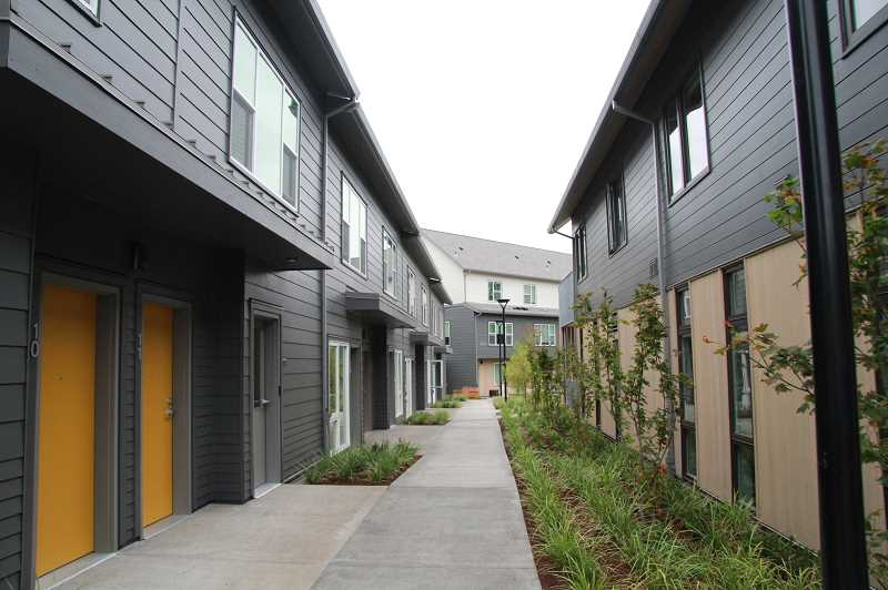 PMG PHOTO: SAM STITES - NHAs renovation of its campus includes 28-units of affordable housing wrapped around the Annie Ross House, Clackams Countys only full-family shelter.