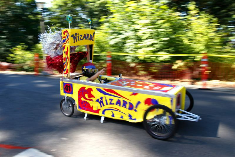 PMG FILE PHOTO - The PDX Adult Soap Box Derby returns to Mt. Tabor City Park, Saturday, Aug. 17.