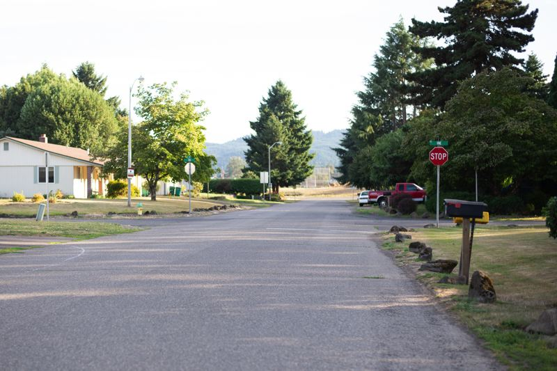 PMG PHOTO: ANNA DEL SAVIO - The proposed fuel tax in Scappoose would fund sidewalk and street maintenance and repairs, which have deteriorated with insufficient maintenance. City staff say the lack of sidewalks along roads contributes to accidents.