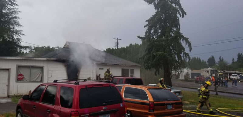 Fire displaces family from home