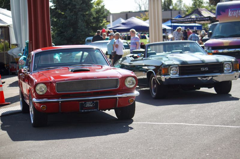 PMG PHOTO: CHRISTOPHER KEIZUR - Along Third Street there were several classic cars as part of the Party on the Plaza event.
