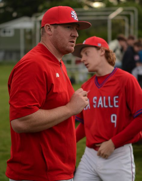 PMG PHOTO: DAVID BALL - Nate Fogle guided La Salle Prep to a first-round win in the 5A playoffs last spring. He is entering his third season as head coach at the Milwaukie school.