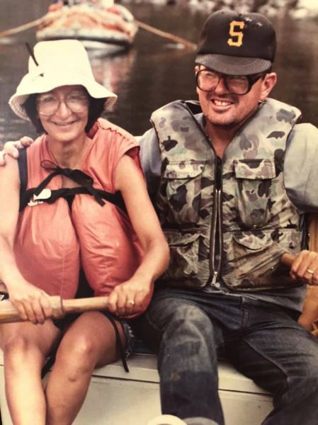 COURTESY: SANDY STREHLOU - Gene Strehlou shares a moment on a river with wife Lucille. Strehlou, a member of the St. Helens Sports Hall of Fame, died in June at age 86.