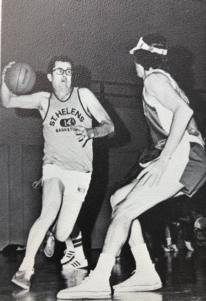 COURTESY: ST. HELENS HIGH SCHOOL - Gene Strehlou, longtime coach and athletic director at St. Helens High, was a fixture in various Lions sports and activities and in the science department, whose early days as an athlete included a run with a legendary basketball team at College of Idaho.