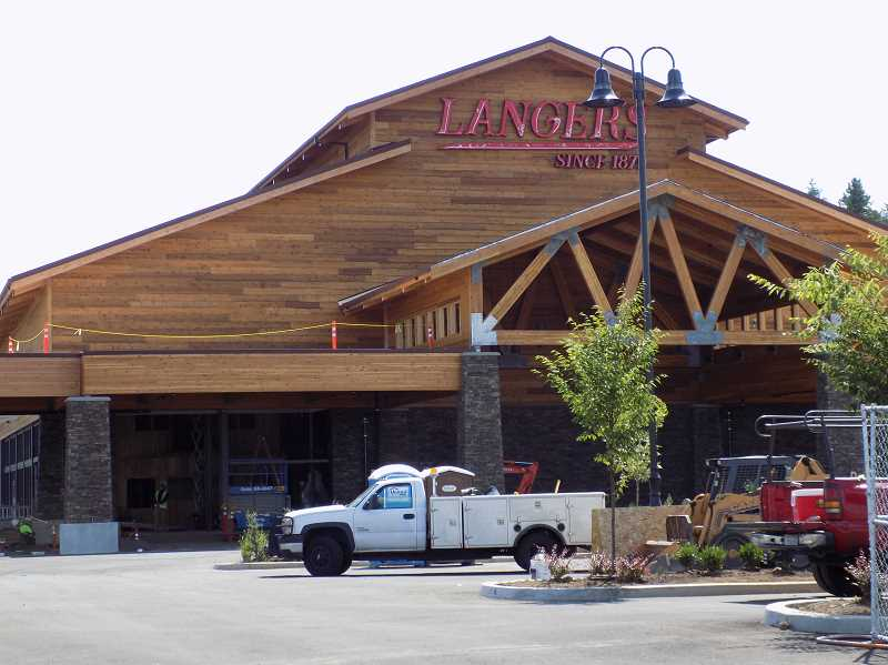 PMG PHOTO: RAY PITZ - The Langers entertainment complex will feature bowling, laser tag, a rock wall and ropes. Plans are for an October opening with a grand opening celebration planned for Oct. 25, featuring the band Hit Machine.