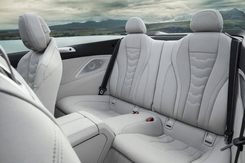 COURTESY BMW - The rear seats are best reserved for small children.