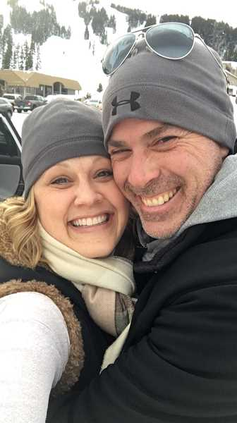 COURTESY PHOTO - Michelle Jensen and her husband, Jason, at Mount Bachelor.