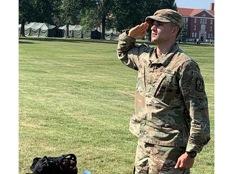 SUBMITTED PHOTO - Sean Leriche attended a 38-day ROTC camp at Fort Knox, graduating from the camp in the top 15% of all the cadets attending.