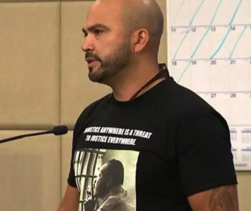 KOIN 6 NEWS IMAGE - Joey Gibson in Multnomah County court on Monday, Aug. 19.
