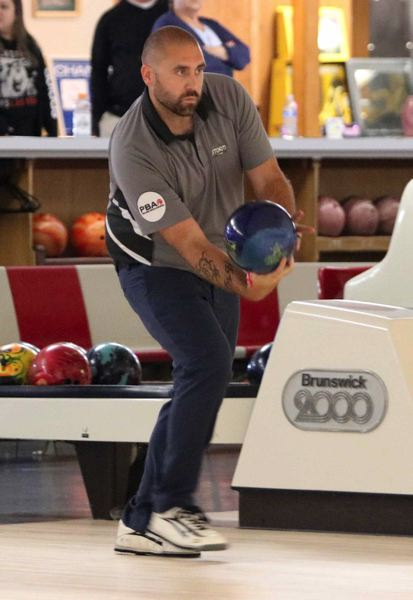 PMG PHOTO: JIM BESEDA - Milwaukie's Jason Hollingsworth placed fourth after Sunday's final round of the 40th PBA Dave Husted Northwest Open at Milwaukie Bowl.