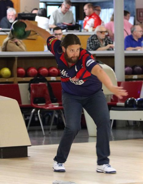 PMG PHOTO: JIM BESEDA - Gladstone's Corey Husted climbed within 12 pins of the lead Sunday before finishing in sixth in the tournament that bears his father's name -- the PBA Dave Husted Northwest Open at Milwaukie Bowl.