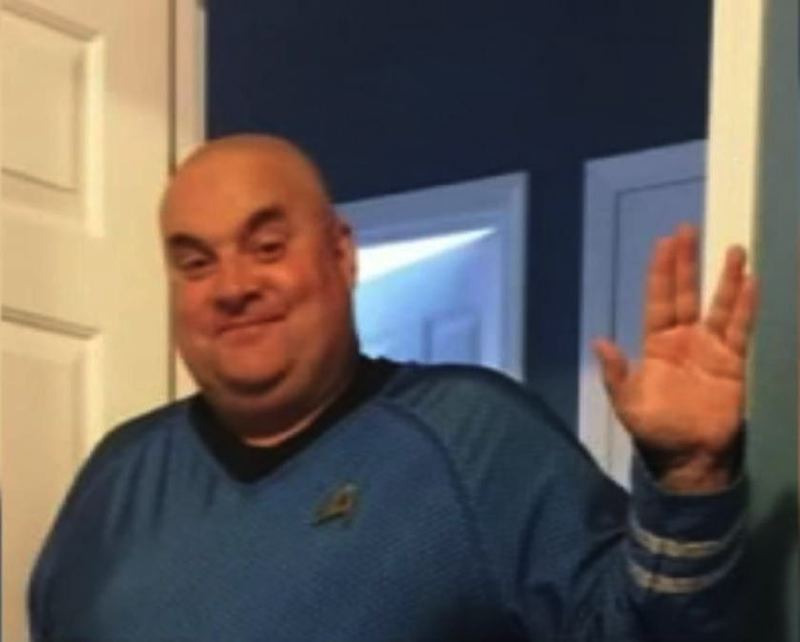 COURTESY PHOTOS - Daniel DiGiorgio, 54, a beloved mail carrier in Oregon City who died last month, shows his love of 'Star Trek.'