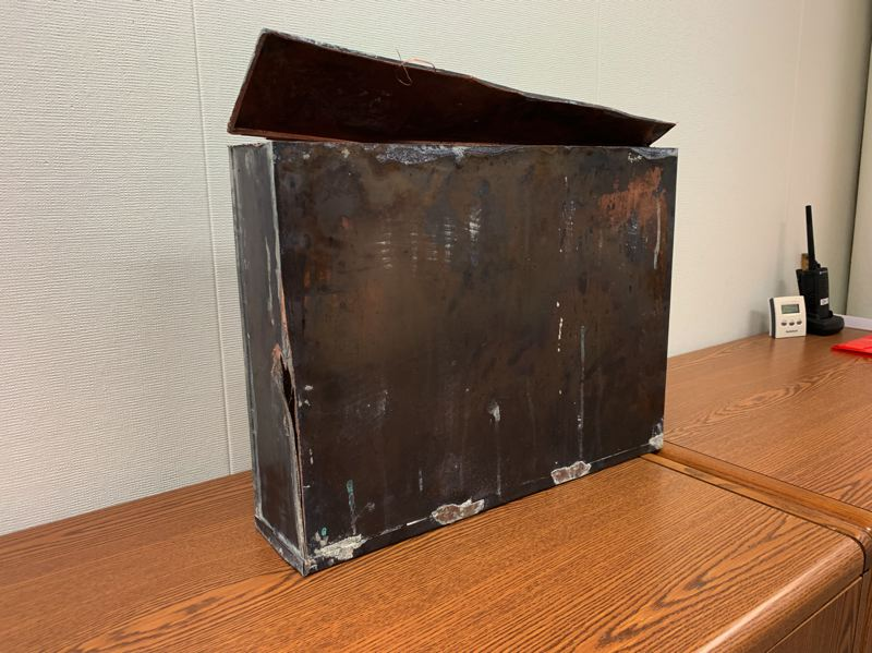 COURTESY PHOTO: GRESHAM-BARLOW SCHOOL DISTRICT - During demolition, workers discovered a time capsule placed in the building in 1940.