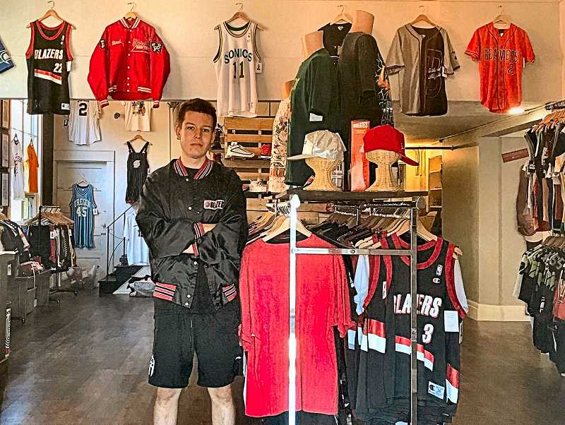 Grant Blodgette, a 2019 graduate of Linfield College, has opened apparel store G.O.A.T. Sports & Street Style across from the library in Sellwood.