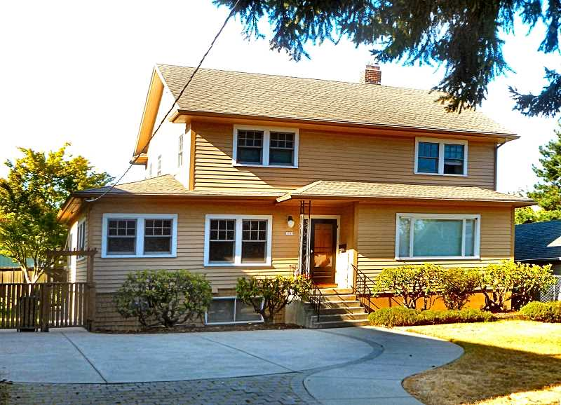 EILEEN G. FITZSIMONS - This single-family residence at 1735 S.E. Nehalem Street was once a maternity home. Because it was built on a lot that was a hundred feet square, in 2006 the current owners added a duplex that resembles a carriage house on the western edge of the property.