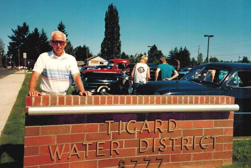 COURTESY OF THE SANTEE FAMILY - Bob Santee would be on board to oversee the construction of the current Tigard Water District building that still stands at Hall Boulevard and Burnham Street.