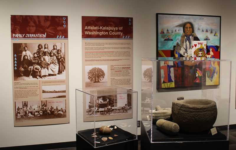 PMG PHOTO: JANAE EASLON - Guest curator Steph Littlebird Fogel created an updated and expanded version of the museums exhibit on the Kalapuyan peoples - the Tualatin Valleys first people.
