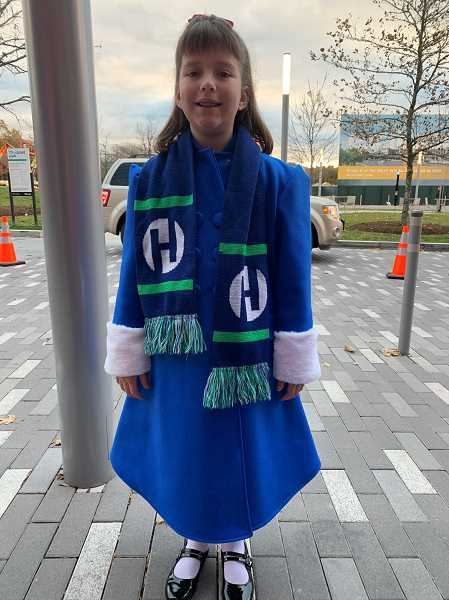 COURTESY PHOTO: KIM HARRINGTON - Hillsboro student Brigette Harrington won a poem contest out of 1,200 submissions and got to travel to Washington D.C. to light the Capitol Christmas Tree that came from Oregon last year.