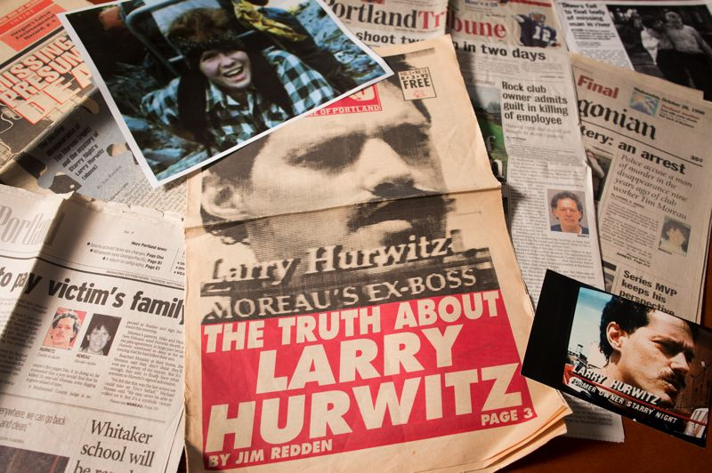 PMG PHOTO: JAIME VALDEZ - Documents generated reporting on Larry Hurwitz include a photo of Tim Moreau (top) around the time he moved to Portland and a mug shot of Hurwitz (bottom) when he was charged with the killing.
