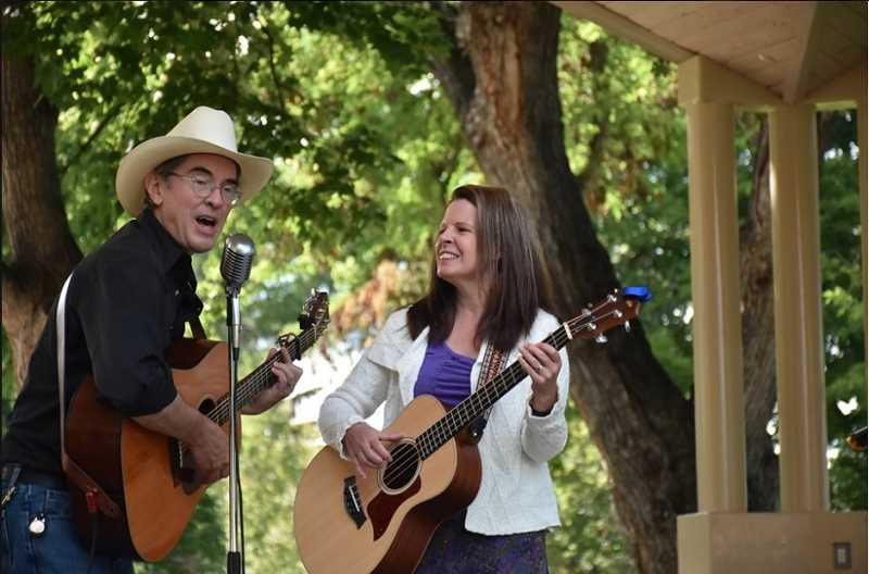 COURTESY OF PHOENIX DUO - Phoenix Duo, Tim Crosby and Kathy Boyd Crosby, will perform at Woodburn Estates Dance and Social Clubs happy hour event on Sunday, Sept. 15, 2019.