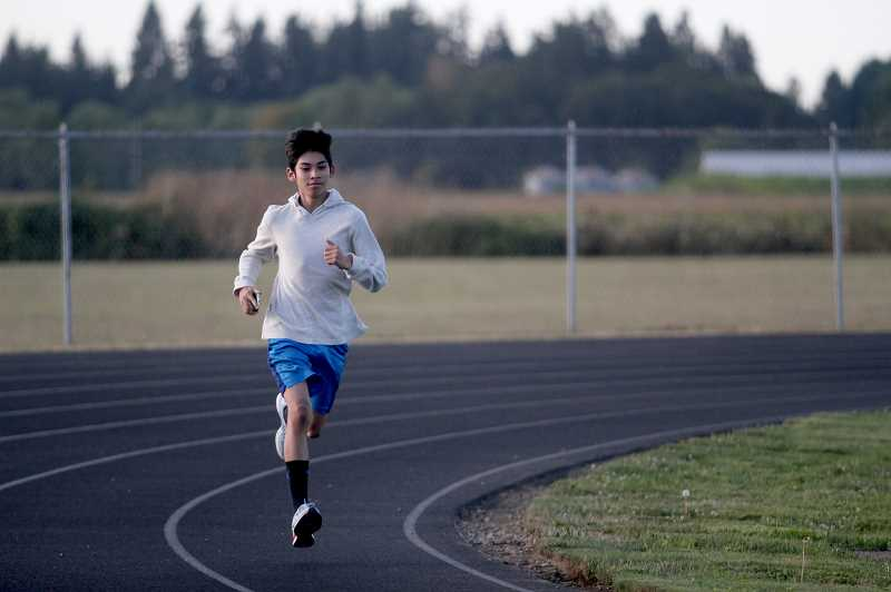 PMG PHOTO: PHIL HAWKINS - Freshman Raul Vasquez will help bolster the Kennedy boys cross country team, which is seeking a return to the state championships after placing sixth overall in 2018.