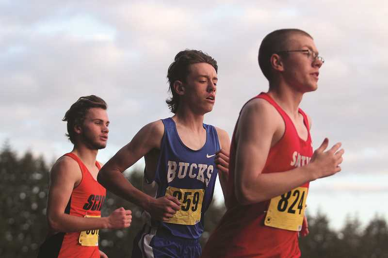 PMG PHOTO: PHIL HAWKINS - St. Paul junior Broden Lear returns as the boys team's top runner after placing 12th at the state meet last year.