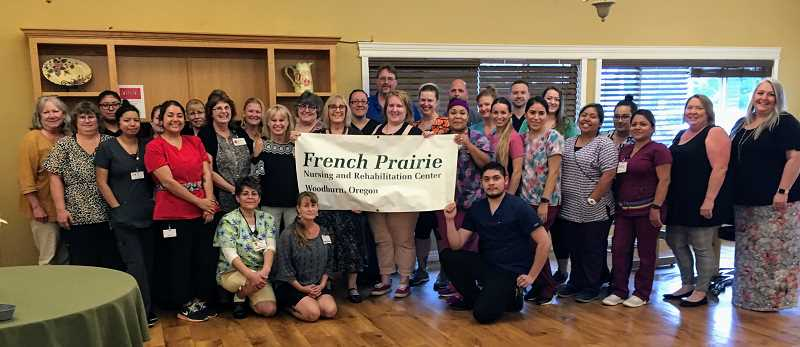 COURTESY OF FRENCH PRAIRIE NURSING AND REBABILITATION CENTER - French Prairie staff was excited to be the recipient of the 2019 Bronze - Committed to Quality Award by the American Health Care Association and National Center for Assisted Living.