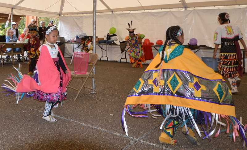 COURTESY PHOTO - Dancers from the Warm Spring Native American tribe are among those who provide entertainment at the Mount Hood Salmon, Mushroom and Bigfoot Festival in Welches.
