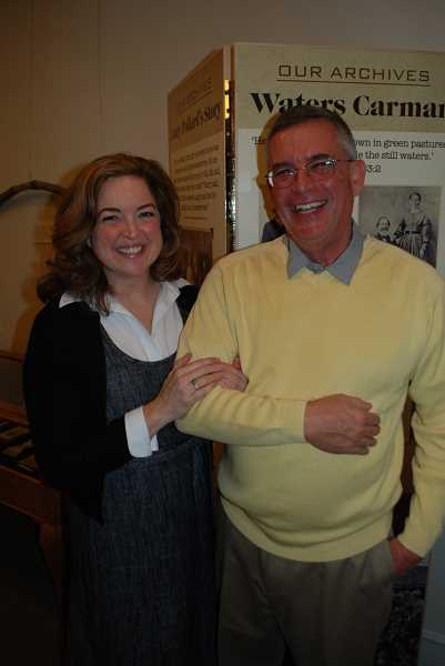 COURTESY PHOTO  - Marc Browne is the archivist at Oswego Heritage Council. He will deliver the first Chautauqua on First Wednesday lecture Sept. 4. Pictured with him Nancy Niland, executive director of Oswego Heritage Council.