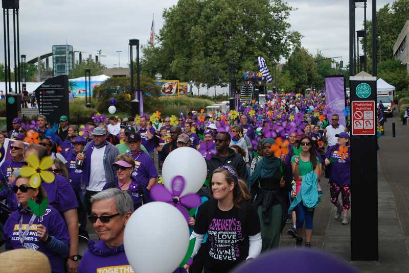 COURTESY PHOTO: ALZHEIMERS ASSOCIATION OREGON & SOUTHWEST WASHINGTON CHAPTER - The Walk to End Alzheimers event, a fundraiser for the Alzheimers Association, will take place Aug. 24 in the Rose Quarter Commons.