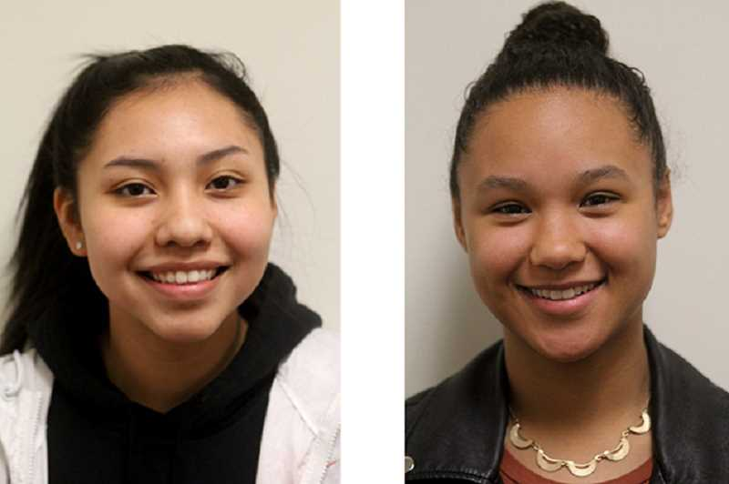 FILE PHOTOS - Lynden Harry, left, and Kaliyah Iverson