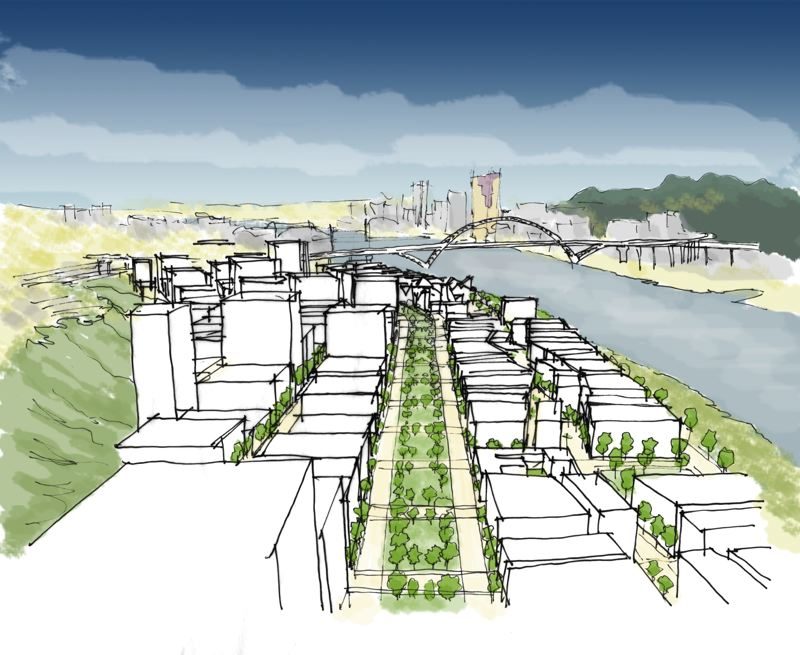 COURTESY: JONATHAN KONKOL - The redevelopment of the property where Interstate 5 and the Union Pacific Railyards presently reside, is critical to the future of Portland's growth.