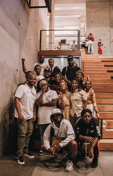 PHOTO: THE COLLAB.PDX, ALEX KNOWNODY - Pitchers at the  fifth annual Pitch Black, which was held in the Wieden + Kennedy atrium August  15, 2019.