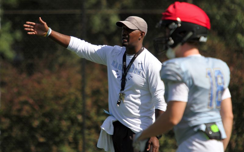 PMG PHOTO: MILES VANCE - New Lakeridge head football coach Forrest Sherman has served the past two seasons as the Pacers' defensive coordinator and hopes to have his team hit the ground running in 2019.
